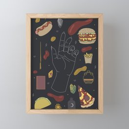 Fast Food Witch Starter Kit - Illustration Framed Mini Art Print