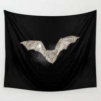 bat Wall Tapestries featuring Bat by Arts and Herbs