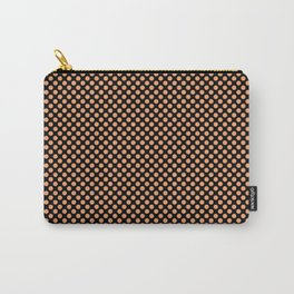 Black and Pumpkin Polka Dots Carry-All Pouch
