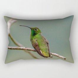 Perched Mountain Velvetbreast Hummingbird Rectangular Pillow