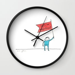 let's be magnificent Wall Clock