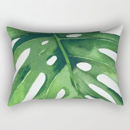 Monstera Leaf Rectangular Pillow