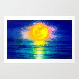 Haunting Moon Art Print