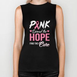 Pink Spread The Hope Find The Cure Biker Tank