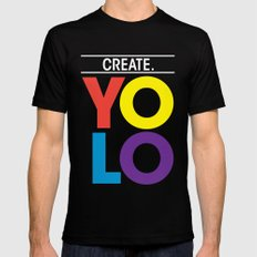 YOLO: Create. Black MEDIUM Mens Fitted Tee