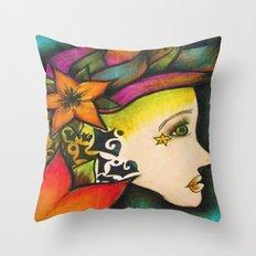 Nicole (Flower) Throw Pillow