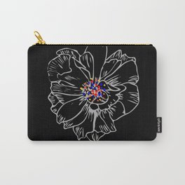 White stroke flower rainbow anthers Carry-All Pouch