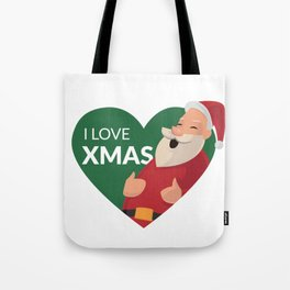 I Love XMAS Tote Bag