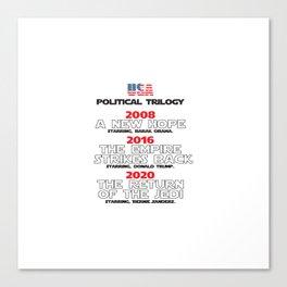 USA Presidential trilogy Canvas Print
