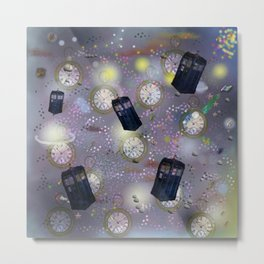 time and space dr who tardis watches Metal Print