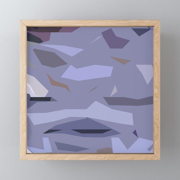 Fragmented Violet Framed Mini Art Print