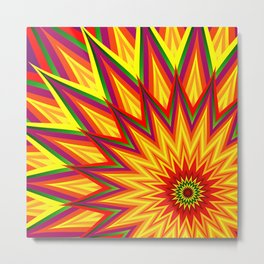 Abstract Sunflower I Metal Print