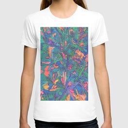 Neon color lavenders T-shirt