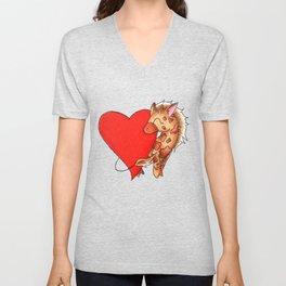 Heart Giraffe Unisex V-Neck
