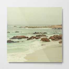Waves Kissing the Shore, Pebble Beach, Monterey Bay California Metal Print