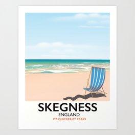 Skegness vintage style railway poster Art Print