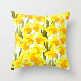 Spring Breeze With Yellow Flowers #decor #society6 #buyart Throw Pillow