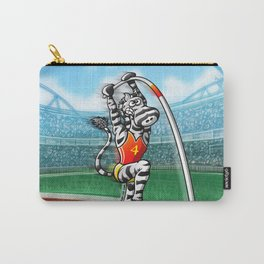 Olympic Pole Vault Zebra Carry-All Pouch