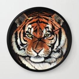 Tiger portrait drawing Wall Clock