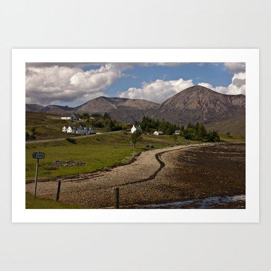 Road on the Skye Art Print