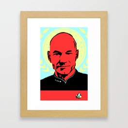 Captain Jean Luc Picard Framed Art Print