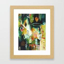 """Deep Growth"" Original Painting by Flora Bowley Framed Art Print"