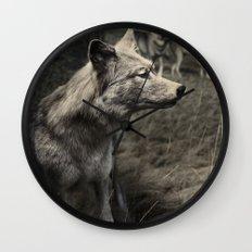 Tom Feiler Wolf Wall Clock