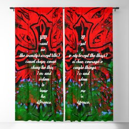 Serenity Prayer Inspirational Quote With Creative Motivational Art Blackout Curtain