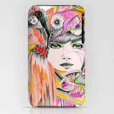 Pink Leaves iPhone (3g, 3gs) Slim Case