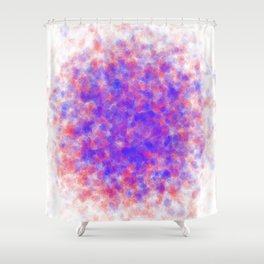 gathering crystals, red and blue Shower Curtain