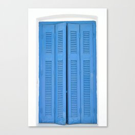 The Blue Window, Milos Canvas Print