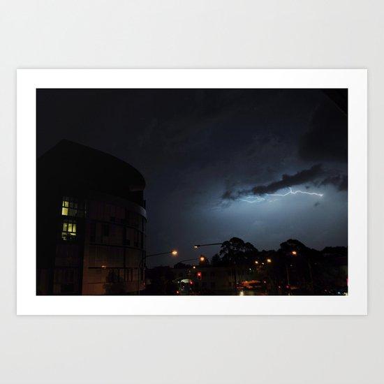 Storm Over Epsom Art Print