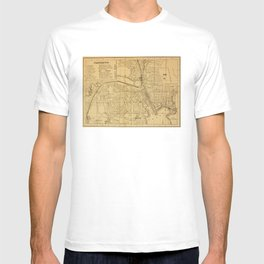 Vintage Map of Providence RI (1880) T-shirt