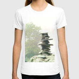West Coast Inukshuk In A Summer Fog  #decor #society6 #buyart T-shirt