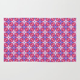 Watercolor Geometry Mod Pink Rug