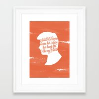 liam payne Framed Art Prints featuring Liam Payne Silhouette   by Holly Ent