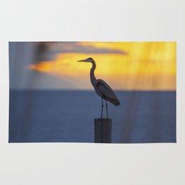 Blue Heron at Sunrise Rug