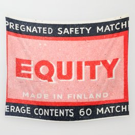 Old Matchbox label #2 Wall Tapestry