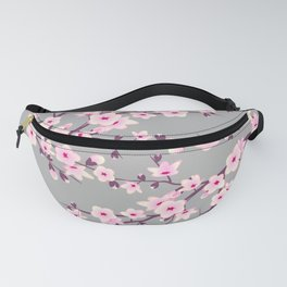 Cherry Blossom Pink Gray Fanny Pack