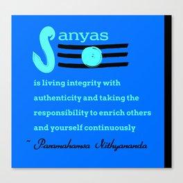 What is Sanyas? Canvas Print