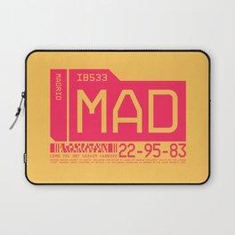 Luggage Tag C - MAD Madrid Barajas Spain Laptop Sleeve