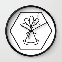 Elffy Hat in Hexagon Wall Clock