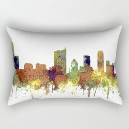 Austin, Texas Skyline - SG - Safari Buff Rectangular Pillow
