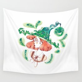 Green Witch Wall Tapestry