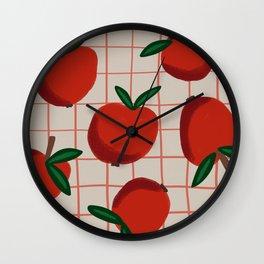 Summer Harvest / Red Apples Wall Clock