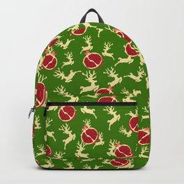 Christmas Reindeer Pomegranate Ornaments Baubles Backpack