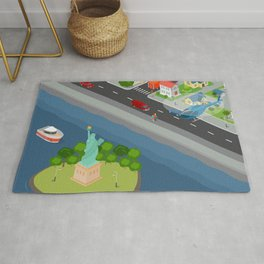 Helicopter tour of New York City Rug