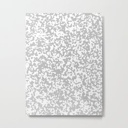 Small Spots - White and Silver Gray Metal Print
