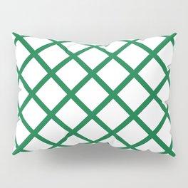Criss-Cross (Olive & White Pattern) Pillow Sham