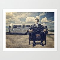 camping Art Prints featuring Camping by Fabrizio Calicchia
